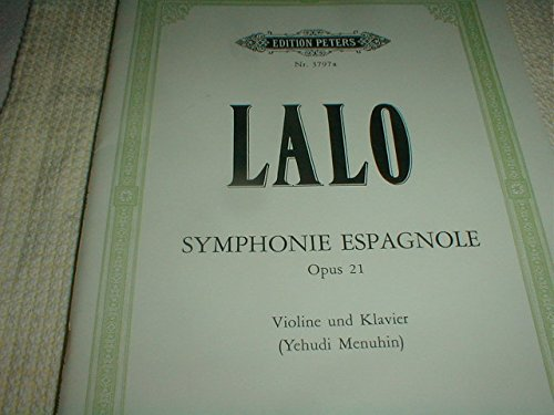 (Partition classique EDITION PETERS LALO EDOUARD - SYMPHONIE ESPAGNOLE OP.21 - VIOLIN AND PIANO Violon)