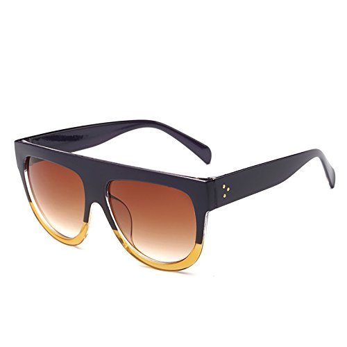 De Viajes Tonos TIANLIANG04 Unas 3 Sol Enormes Gafas De PurpleYellow Bastidor Leopardblack362 Uv Frame Sol Gradiente Mujer 9 Gafas G Vintage Hombre wt7wqOr