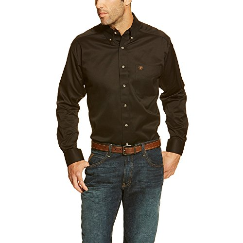 Ariat Mens Solid Twill Shirt XXXLR Black