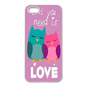 Owl you need is LOVE Inkjet Printing Printed Phone Plastic Hard Shell Case Cover For Apple Iphone 5 5S Cases TKOK757794