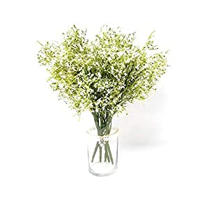 """Sophia Essential"" White Tiny Baby's Breath Bush Artificial Gypsophila Flowers Great for Wedding Center Piece Table or Floral Arranngement Bouquet (3pcs) 1"