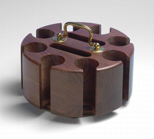 Drueke 856.12 Walnut Chip Rack with Plastic Chips (200 Chip Capacity) ()