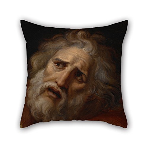 Bestseason 16 X 16 Inches / 40 By 40 Cm Oil Painting Appiani, Andrea I - Head Of Laocoon Christmas Pillow Shams 2 Sides Ornament And Gift To Play Room Home Office Coffee House Him Boys Pub