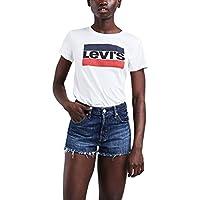Camiseta Levis Feminina Logo Sportswear Branca e1211a5d8e1