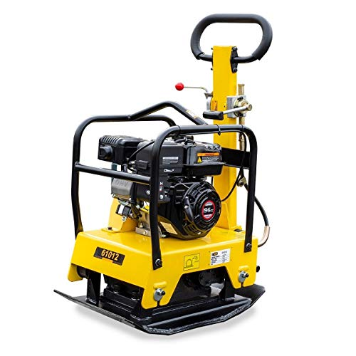 9trading Reversible 6.5HP Gas Walk Behind Vibratory Plate Compactor Rammer c125
