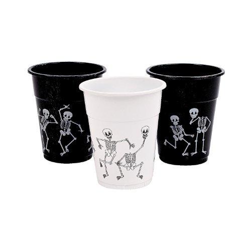Skeleton Print  Plastic Cups - Halloween Decor - Set of 50