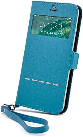 【HANATORA】 iPhone 8 Plus/iPhone 7 Plus 対応 Vision-Card シュリンクエンボスド PUレザー 手帳型ケース 磁気干渉防止シートMAGNO + 2種類の選べる液晶保護フィルムキット同梱(ターコイズ) H10-7P-Turquoise