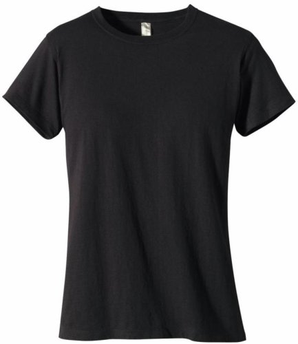 econscious Women's 100% Organic Cotton Short Sleeve Tee (Black, ()
