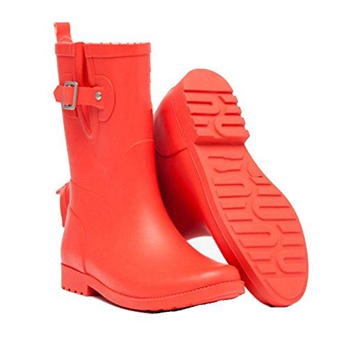 8e2cbe9a3 Sexy Botas de Goma Mate de Primavera y Verano Botas de Goma Impermeable de  Moda Zapatos ...