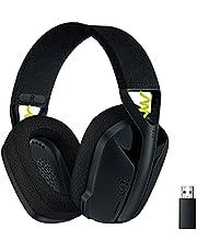 Logitech G435 LIGHTSPEED en Bluetooth draadloze gaming headset - Lichtgewicht, over-ear, ingebouwde microfoons, 18 uur batterij, compatibel met Dolby Atmos, PC, PS4, PS5, mobiel - Zwart