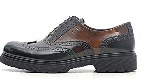 para Giardini de cordones mujer Zapatos Piel de Ebano Nero wYIqtFxdd