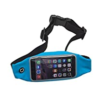 RedHoney Universal Running Waist Belt Sport Exercise Waistband for iPhone 6/6S,6/6S Plus,Galaxy S5,S6,Note 4/5 (Blue)