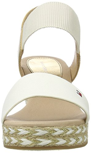 White E1285lba Tommy with Heeled 33c2 Strap White Shoes Hilfiger Black Ankle Off Women's FwnwA4BUOq