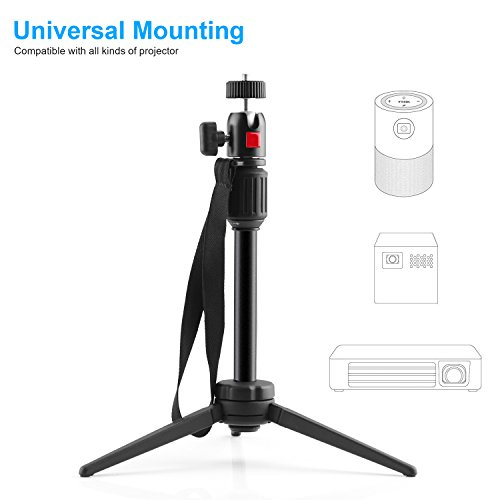 Nebula Capsule Adjustable Tripod Stand, Myriann Aluminum Alloy Portable Projector Stand for Pico Projector, Pocket Projector, and Mini Projector with Universal Mount and Swivel Ball Head by MYRIANN (Image #3)