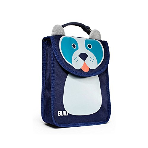 Built NY BAB1-DOG Big Apple Buddies Reusable Insulated Kid's Lunch Box Sack, Delancey Doggie