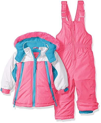- Wippette Girls' Toddler Baby Girls & Toddler Insulated Snowsuit, Colorblock Knockout Pink, 4T