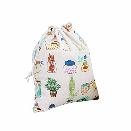 Koly_Piccola stampa bottiglia fascio coulisse di stoccaggio porta sacchetto regalo viaggio
