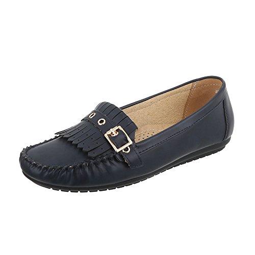 Chaussures Femme Mocassins Plat Mocassins Bleu Pointure 41