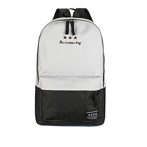 Flada de moda bolsas de libro de lona para niñas casual Daypacks escuela mochilas para adolescentes Gris