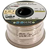 InstallerParts 100 Ft 14AWG/2C In-Wall Speaker Wire, OFC CL2 UL OD-7mm -- White Jacket –Universal In-Wall Speaker Wire