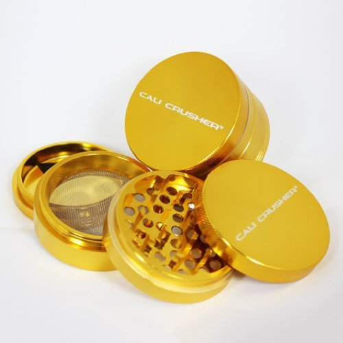 Large Cali Crusher Herb Grinder 4 Piece Gold by Cali Crusherつ B00CBY7P0Q