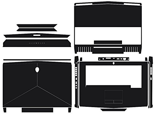 Waterproof Special Laptop Black Carbon fiber Vinyl Skin Stickers Cover Guard for 2016-2017 release New Alienware 15 R3 AW15R3 15.6-inch