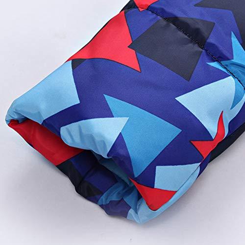 coton avec Veste et d'hiver Yunyoud femmes chaude en Veste un bleu en un beau et manteau matelassé longue pour duvet piquet n00Yvq7