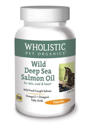 Wholistic Pet Organics Wild Deep Sea Salmon Oil 100 Capsules Supplement
