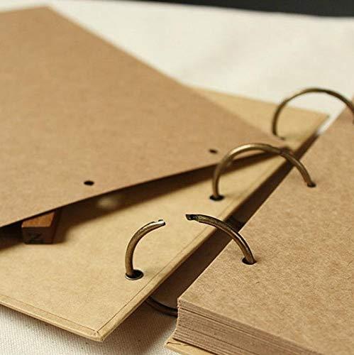 JOLIN DIY Kraft Paper Wedding Album Scrapbook Album Photo Album