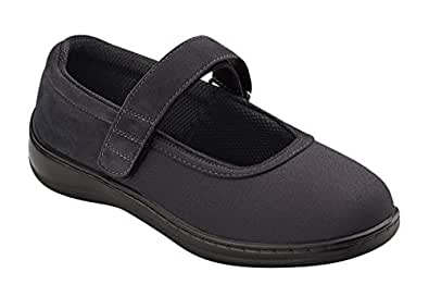 Orthofeet Stretchable Bunions Relief Orthopedic Arthritis Diabetic Womens Mary Jane Shoes Springfield Black