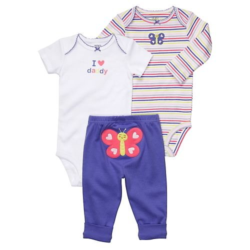 Carter's Baby Girls' 3 Piece Set - I Love Daddy - 9 Months