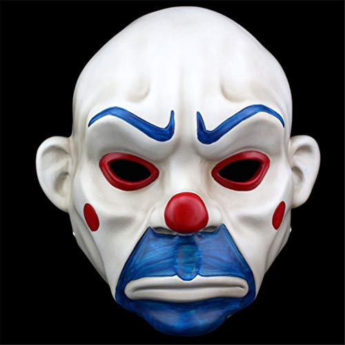 TTXST Halloween Mask Resin Mask Clown Mask Robbery Horror Masks Clown Robber mask -