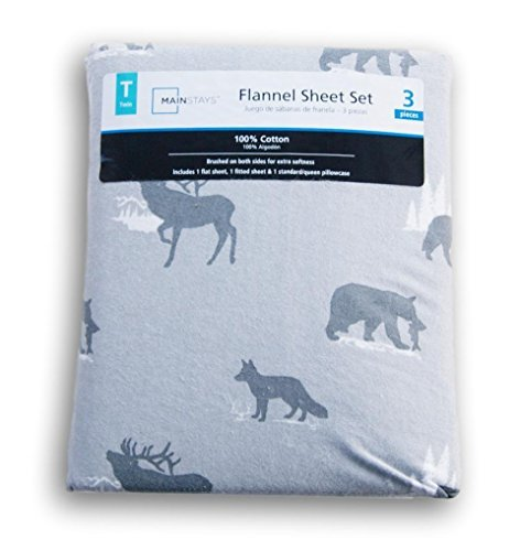 Gray Wilderness Print Flannel Sheet Set - - Beds Wal Mart Twin