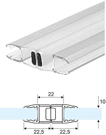 Junta para mampara de ducha transparente magnética de cristal de 10 mm-vendido a la par de 2,20mt: Amazon.es: Bricolaje y herramientas