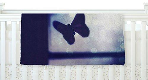 KESS InHouse Robin Dickinson Enchanted Lavender Butterfly Fleece Baby Blanket 40 x 30 [並行輸入品]   B077ZSPM3Z