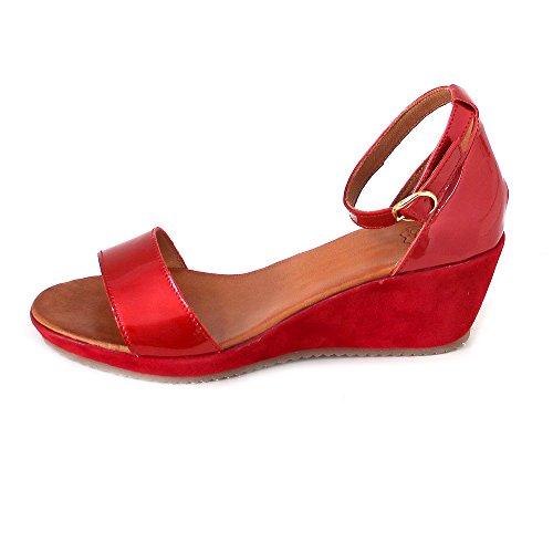 Mela Eden Donne Delle Caviglia cinghia Di Rosso gXYxAgFw