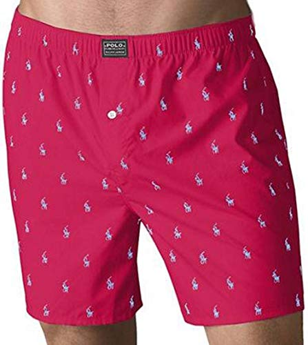 Polo Player Woven Boxer (Large, Heart Red)