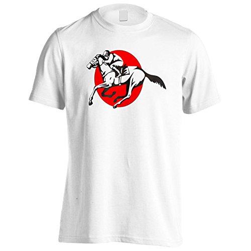 Neues Pferd Und Jockey Rennen Herren T-Shirt l555m