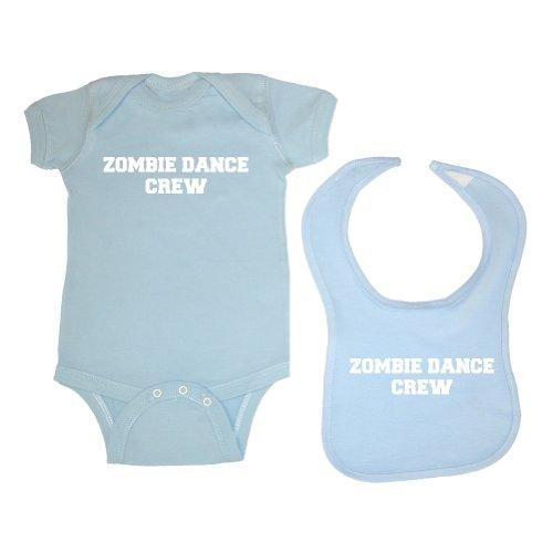Zombie Underground Unisex Baby 2-Pack Zombie Dance Crew Bodysuit & Bib (Lt. Blue, 6 Months) Womens Walking Lt Crew