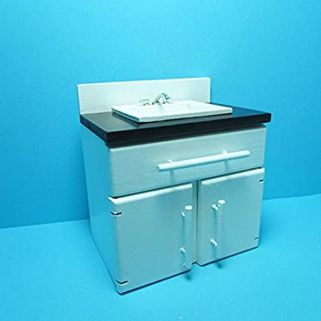Amazon Com Dollhouse Miniature Kitchen Sink With Lower Cabinets In