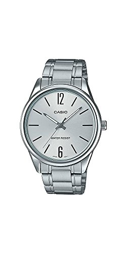 Casio #MTP-V005D-7A Men's Standard Stainless Steel Silver Dial Analog Watch