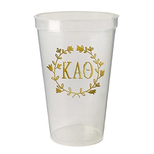 Kappa Alpha Theta Greek Wreath Giant Plastic Cup Set of ()