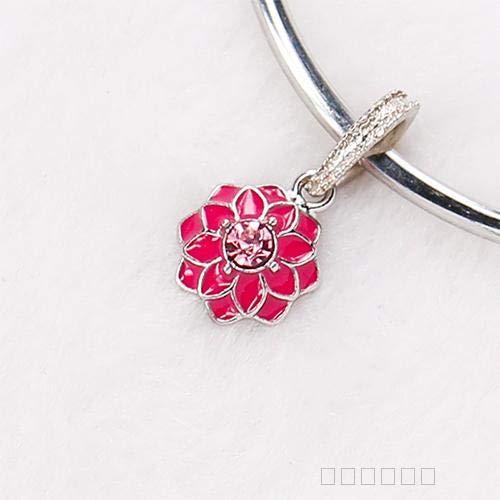 pandura diy custom handmade jewelry accessories tibetan silver alloy sp beads beaded bracelet necklace pendant chain drop diamond studded (rose - Handmade Studded Bib
