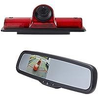 EchoMaster NVK3R Nissan NV 2011-16 Backup camera kit includes OE CUSTOM FIT CAMERA (PCAM-NV4-N) and 3.5 inch REAR CAMERA DISPLAY MIRROR (PMM-35-PL)