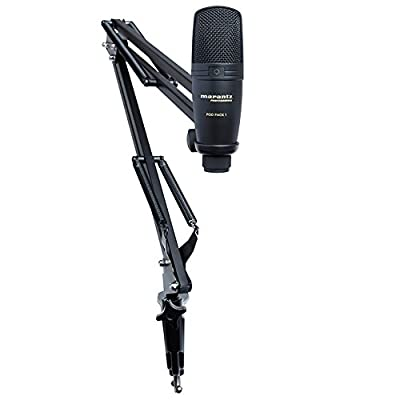 Marantz Professional Pod Pack 1 | Broadcast Boom Arm with Included USB Condenser Microphone from inMusic Brands Inc.