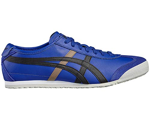 Adulte black Mixte asics Asics Bleu Blue Basses Baskets Mexico 66 qxCnwZT6X