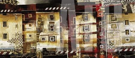 ArtToCanvas 54W x 24H inches : Impalcature by Fulvio Dot - Framed Canvas ()