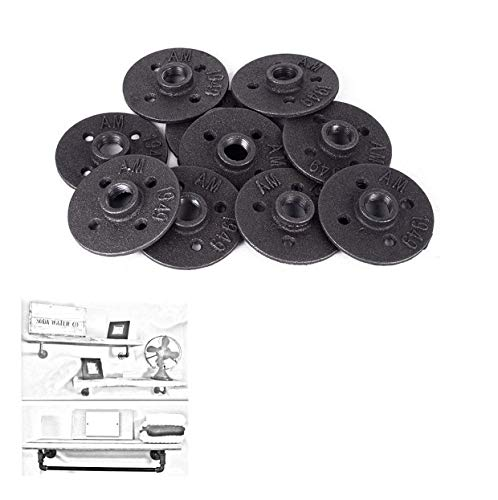 10Pcs Malleable Cast Iron Pipe Fittings Floor Flange BSP Threaded Hole By E-UNIONA (3/4-inch) by E-UNIONA (Image #6)