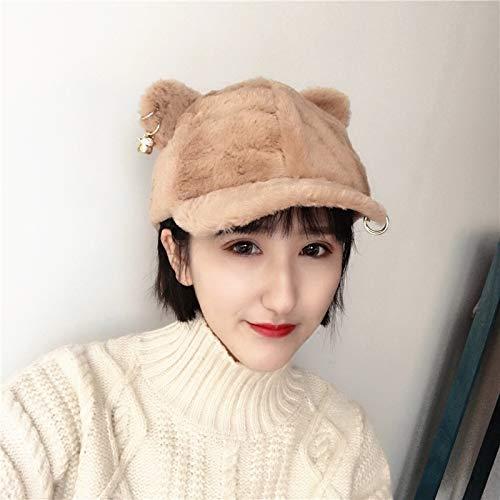 Cappello Per Cappellino Cammello Dvfgsxxht Orecchie Caldo Autunno E Con Gatto Colore Donna Da Camel Baseball Invernale Inverno YUUnzZg