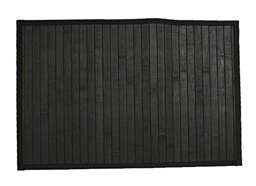 "Hotel 08314 Bamboo 24""X36"" Floor Mat,Black,24x36"